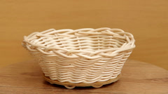 Basket weaving from rattan Stock Footage