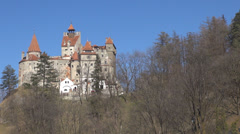 Beautiful Bran Castle Dracula legend journey historic royal symbol unique place  Stock Footage