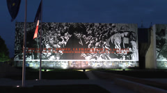 The Caen Memorial, Normandy during the 70th Anniversary of D-Day, June2014. Stock Footage