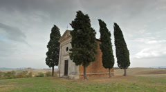 Chapel in Tuscany Stock Footage