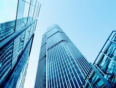 Stock Photo of Modern office buildings from low angle view