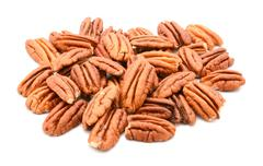 Whole pecan nuts Stock Photos