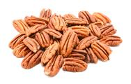 Stock Photo of Whole pecan nuts
