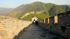 The Great Wall of China section of disrepair fortification  Beijing - stock footage