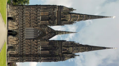West front of Lichfield cathedral, England. Stock Footage
