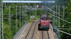 Time Lapse Nostalgia Nostalgic Historic Steam Train tour Munich Germany Europe - stock footage