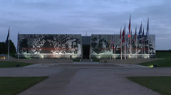 The Caen Memorial, Normandy during the 70th Anniversary of D-Day, June2014. - stock footage