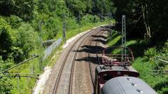 Nostalgia Nostalgic Historic Steam Train tour Munich Germany Europe Stock Footage