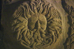Gorgon Head of Bath Stock Footage