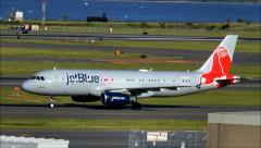 JetBlue Boston Red Sox Airplane Stock Footage
