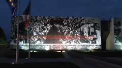 Stock Video Footage of The Caen Memorial, Normandy during the 70th Anniversary of D-Day, June2014.
