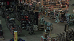 Inside sporting goods recreation gun store HD 078 Stock Footage