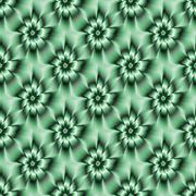 Teal Green Daisy Pattern - stock illustration