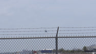 Stock Video Footage of helicopter leaves depart airport airfield airstrip helipad