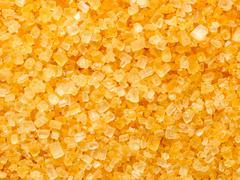 golden sugar crystals - stock photo