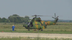 Military helicopter prepare take off landing mission battle operation national  Stock Footage