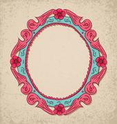 old frame. - stock illustration