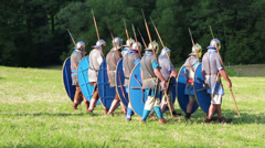 Roman army is training Stock Footage