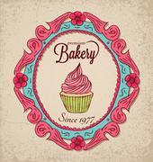Vintage bakery Stock Illustration