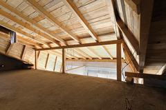 loft construction - stock photo