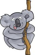 Stock Illustration of cartoon koala