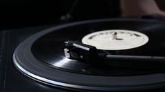 Playing turntable Stock Footage