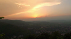 Golden sunset timelapse near Harz mountains Stock Footage