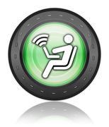 Icon, button, pictogram wireless access Stock Illustration