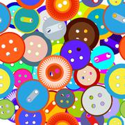 Seamless buttons Stock Illustration