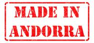 Stock Illustration of Made in Andorra - inscription on Red Rubber Stamp.