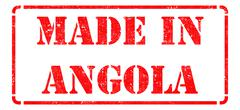Stock Illustration of Made in Angola - inscription on Red Rubber Stamp.