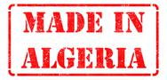 Stock Illustration of Made in Algeria - inscription on Red Rubber Stamp.