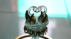 Couple Of Glass Swans - stock footage