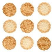Set of saly crackers Stock Photos