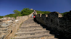 Great Wall of China people Chinese man made Beijing East Stock Footage