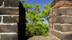 Landscape Great Wall of China Beijing people Mutianyu - stock footage