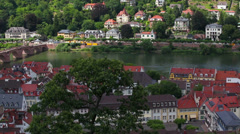 Heidelberg - Germany - city panorama Stock Footage