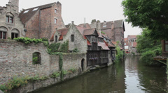 Brugges - Belgium - old city detail Stock Footage