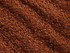 processed coffee granules - stock photo