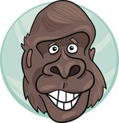 Stock Illustration of gorilla ape