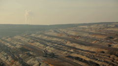 Open pit with power plant in background Stock Footage