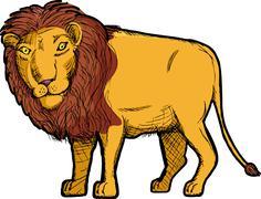 Lion Drawing Stock Illustration