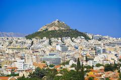 Lycabettus hill at Athens, Greece - stock photo