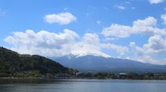 4K Timelapse Mount Fuji, Lake Kawaguchiko, Japan Stock Footage