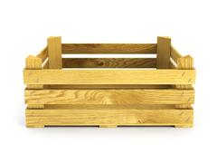 Stock Illustration of empty wooden crate