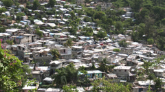 Top shot looking down on shanty town Stock Footage