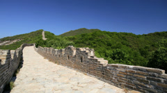 Landscape view Eastern China The Great Wall Mutianyu Asia - stock footage