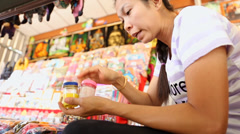 Thailand's most famous Floating Market Stock Footage