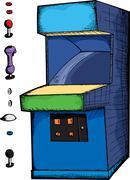 Customizable Arcade Game Stock Illustration