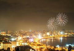 Fireworks in Baku, Azerbaijan - stock photo